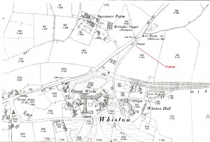 1899 OS Map showing the Copper Works and Pinfold.