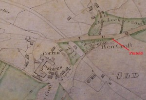 1814 Tithe Map showing Whiston Copper Works