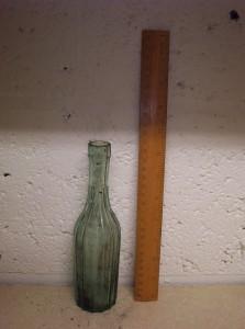 Fluted Glass Bottle
