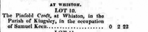 Staffordshire Advertiser 09 Aug 1828