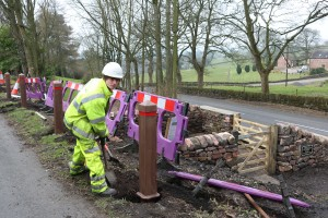 Safety Posts being installed 17 March 2016
